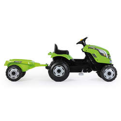 Tracteur farmer xl + remorque - capot ouvrable - vert