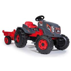 Tracteur stronger xxl - + remorque - siège ajustable - rouge