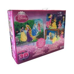 Disney Princesses-Boîte 3 Puzzles Image Effet 3D