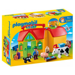 6962 - Ferme transportable - Playmobil 1.2.3