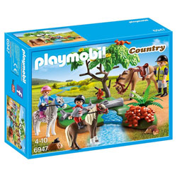 6947 - Cavaliers et poneys et cheval - Playmobil Country