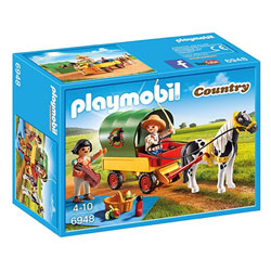 6948 - Enfants avec chariot et poneys - Playmobil Country