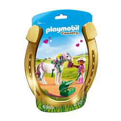 6969-Poney à décorer coeur - Playmobil Country