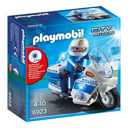 6923 - Moto de policier avec gyrophare - Playmobil City Action