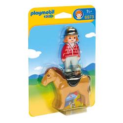 6973 - Cavalière avec cheval  - Playmobil 1.2.3