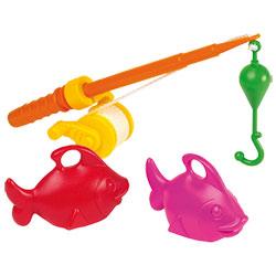 Canne à pêche et poissons