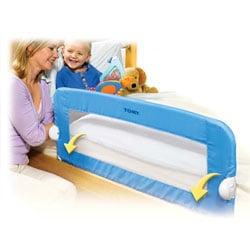 Barrière de lit souple universelle bleue