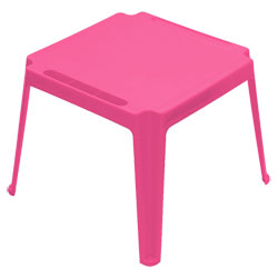Table carrée enfant Rose