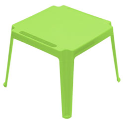 Table carrée enfant Verte
