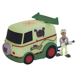 Véhicule Fluorescent Chasseur de fantômes ScoobyDoo avec 1 figurine