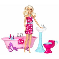 Poupée Barbie et Mobilier Salle de Bain