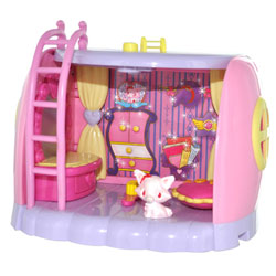Jewel Pet Playset + figurine Jewel Chat rose Garnet