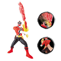 Power rangers Figurine KATANA 16 cm rouge