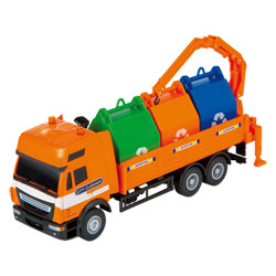 Camion Transport de Poubelles Métal 1/40e