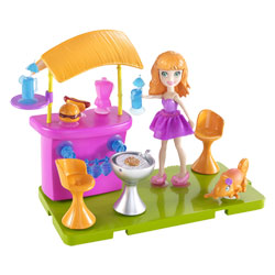 Lea et son salon de jardin