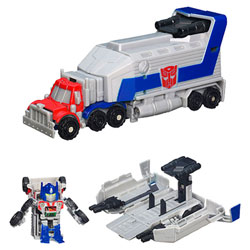 TRANSFORMERS Lanceur Bot Shots Optimus Prime