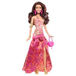 Barbie Fashionistas Robe de Soirée Imprimée