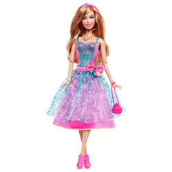 Barbie Fashionistas Robe de Soirée Bleu Rose