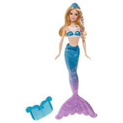 Barbie Sirène coiffeuse Bleue