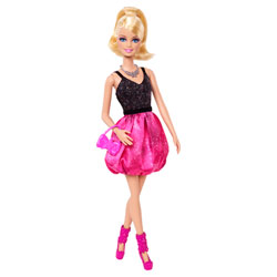 Barbie Amies Mode Glamour Barbie Robe Noir et Rose