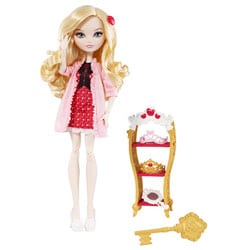 Ever After High Poupée et accessoires Apple White