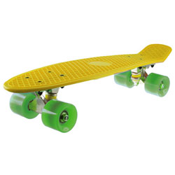 Skateboard Vintage Old School Jaune