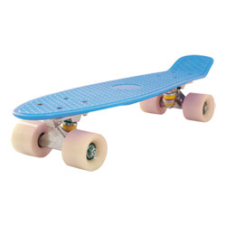 Skateboard Vintage Old School Bleu