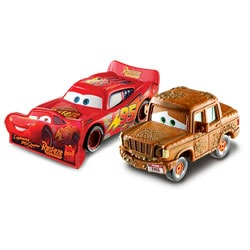 Véhicule Cars 2 Flash McQueen with Sign et Fred