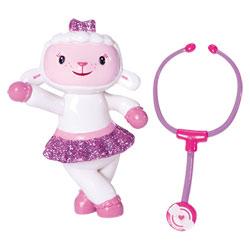 Docteur la peluche-Mini figurine Caline à paillettes et un Stétoscope