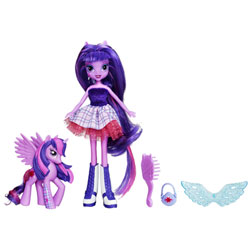 My Little Pony Poupée Equestria Girls Twilight Sparkle et son Poney
