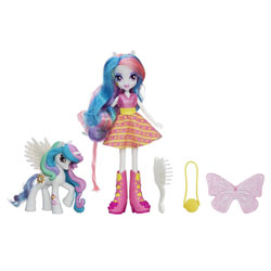My Little Pony Poupée Equestria Girls Celestia et son Poney