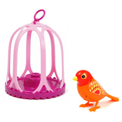 Digibird Twingle dans sa cage