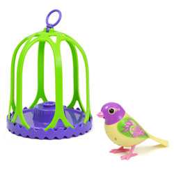 Digibird Breeze dans sa cage
