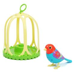 Digibird Flora dans sa cage