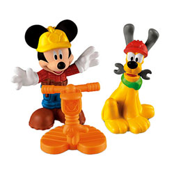 Figurine Mickey et Pluto Chantier