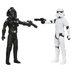 Star Wars Rebels Figurine Pilote Tie et Stormtrooper