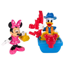 Figurine Minnie et Donald à la péche