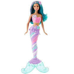 Barbie sirène multicolore - Bonbons