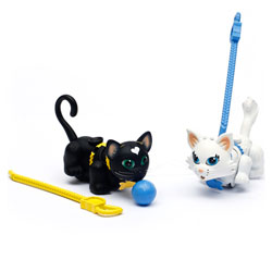 Pet parade 2 chats persan blanc et noir court