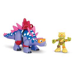 Tortue Ninja 6cm - Stegosaurus avec Mikey