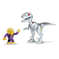 Tortue Ninja 6cm - Robo raptor avec Triceraton