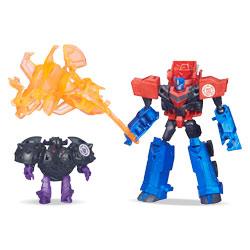 Transformers Minicon Battle : Optimus Prime VS Bludgeon