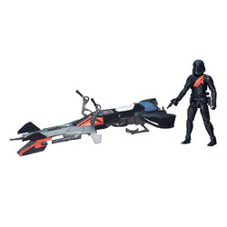 Stormtrooper noir Elite avec Speeder Bike 10 cm Star Wars