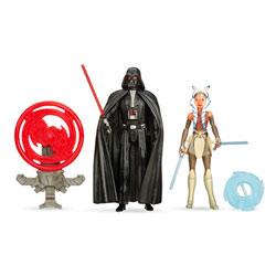 Star Wars pack 2 figurines 10cm Dark Vador et Ahsoka Tano