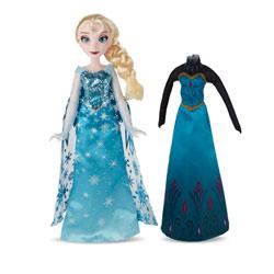 La Reine des Neiges poupée Elsa et 2 tenues