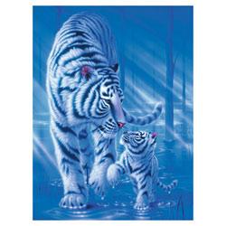 Puzzle 1500 pièces tigre et tigreau