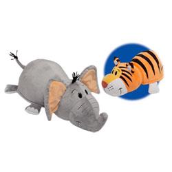 Peluche Flip a Zoo Tigre et éléphant