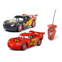 Coffret de 2 voitures radiocommandées Cars classique et carbone