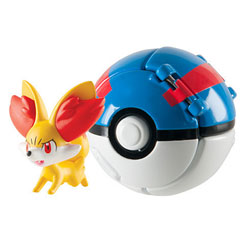 Pokemon throw'n pop pokéball - Superball avec pokémon feu Feunnec
