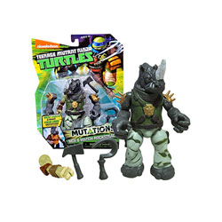 Tortue Ninja mutation figurine 12cm Rocksteady
